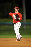 Ohio State Buckeyes second baseman L Grant Davis (50) during a game against the Pitt Panthers on February 20, 2016 at Holman Stadium at Historic Dodgertown in Vero Beach, Florida.  Ohio State defeated Pitt 11-8 in thirteen innings.  (Mike Janes/Four Seam Images)