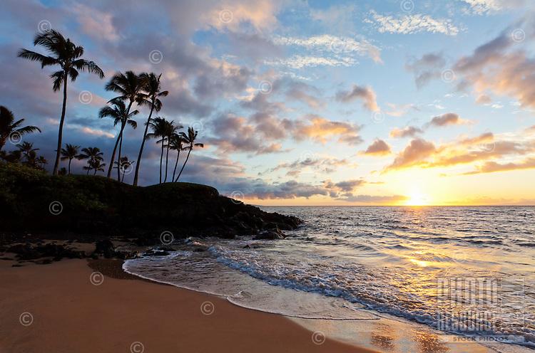 Beautiful sunset in Wailea, Maui.