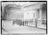J.P. Morgan's body taken from his library,J. P. Morgan's funeral was held on 14 April, 1913