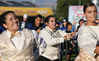 SAN JOSE, CA - AUGUST 31: Dancers of the San Jose Earthquakes during a Major League Soccer (MLS) match between the San Jose Earthquakes and the Orlando City SC  on August 31, 2019 at Avaya Stadium in San Jose, California.