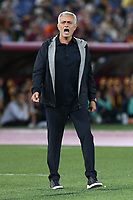 23rd September 2021;  Stadio Olimpicom, Roma, Italy; Serie A League Football, Roma versus Udinese; Roma trainer Jose Mourinho gets animated with his players