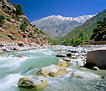 Morocco, High Atlas, near Setti Fatma at Toubkal National Park: River in Ourika Valley | Marokko, Hoher Atlas, bei Setti Fatma im Toubkal National Park: Fluss im Ourika Valley