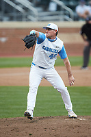 North Carolina Tar Heels relief pitcher Chris Joyner (49) in action against the North Carolina State Wolfpack at Boshamer Stadium on March 27, 2021 in Chapel Hill, North Carolina. (Brian Westerholt/Four Seam Images)