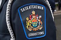 Saskatchewan Corrections badge is seen during a police memorial parade in Ottawa Sunday September 26, 2010.
