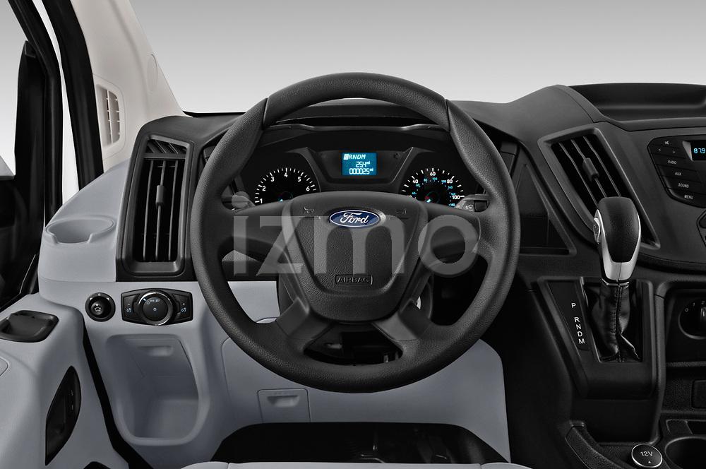 Car pictures of steering wheel view of a 2019 Ford Transit Van 250 LR 4 Door Cargo Van