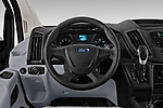 Car pictures of steering wheel view of a 2019 Ford Transit Van 250 LR 4 Door Cargo Van