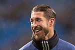 Sergio Ramos of Real Madrid in training prior to the La Liga match between Real Madrid and Real Sociedad at the Santiago Bernabeu Stadium on 29 January 2017 in Madrid, Spain. Photo by Diego Gonzalez Souto / Power Sport Images