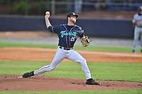 Asheville Tourists pitcher Michael Horrell (26) delivers a pitch during a game against the Bowling Green Hot Rods on May 29, 2021 at McCormick Field in Asheville, NC. (Tony Farlow/Four Seam Images)