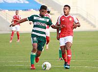 BARRANQUIILLA - COLOMBIA, 09-11-2020: Barranquilla F.C. y Cortuluá en partido por la fecha 9 de la Torneo BetPlay DIMAYOR 2020 jugado en el estadio Romelio Martínez de Barranquilla. / Barranquilla F.C. and Cortulua in match for the date 9 of the BetPlay DIMAYOR 2020 tournament played at Romelio Martinez stadium in Barranquilla.  Photo: VizzorImage / Jairo Cassiani / Cont