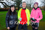Ready to run in the Tralee Town Park on Sunday, l to r: Jackie, Jerry and Lauren Treanor.