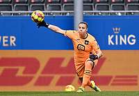 goalkeeper Justien Odeurs (13) of Anderlecht pictured during a female soccer game between Oud Heverlee Leuven and RSC Anderlecht on the 2nd matchday of play off 1 in the 2020 - 2021 season of Belgian Womens Super League , saturday 17 th of April 2021  in Heverlee , Belgium . PHOTO SPORTPIX.BE | SPP | DAVID CATRY