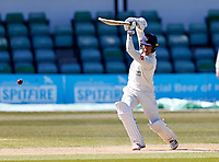 Luke Wood bats for Lancashire during Kent CCC vs Lancashire CCC, LV Insurance County Championship Group 3 Cricket at The Spitfire Ground on 23rd April 2021