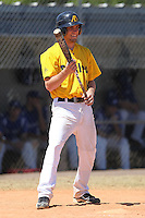 Alderson-Broaddus Battlers first baseman Mike Hackett #8 during a game against the Hillsdale Chargers at the Chain of Lakes Complex on March 17, 2012 in Winter Haven, Florida.  (Mike Janes/Four Seam Images)