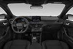 Stock photo of straight dashboard view of a 2019 Ford Focus-Clipper  ST-Line 5 Door Wagon
