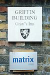 Matrix Chambers  Griffin Building Grays Gray's  Inn London UK
