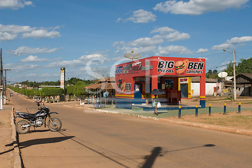 Pará State, Brazil. São Félix do Xingu. Big Ben pizzas, on the main avenue.