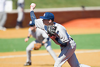 Bobby Kirby #34 of the Georgetown Hoyas in action against the Delaware State Hornets at Gene Hooks Field on February 26, 2011 in Winston-Salem, North Carolina.  Photo by Brian Westerholt / Four Seam Images