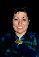 Montreal (QC)CANADA - 1988 File Photo<br /> - Nicole Boudreault, Presidente Societe Saint-Jean-Baptiste
