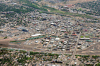 High aerial of Pueblo, Colorado downtown.  June 2013. 89598