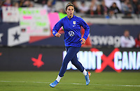 JACKSONVILLE, FL - NOVEMBER 10: Carli Loyd #10 of the United States warming up during a game between Costa Rica and USWNT at TIAA Bank Field on November 10, 2019 in Jacksonville, Florida.