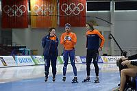 SPEEDSKATING: 12-02-2020, Utah Olympic Oval, ISU World Single Distances Speed Skating Championship, Desly Hill (coach), Kai Verbij (NED), Gerard van Velde (coach Team Reggenborgh), ©Martin de Jong