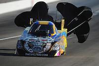 Mar. 31, 2012; Las Vegas, NV, USA: NHRA funny car driver Jim Head during qualifying for the Summitracing.com Nationals at The Strip in Las Vegas. Mandatory Credit: Mark J. Rebilas-