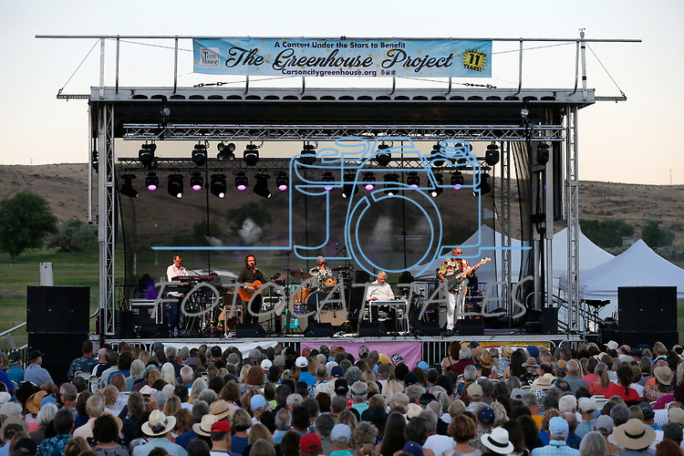 Pure Prairie League performs at the 11th annual Concert Under the Stars fundraiser for The Greenhouse Project, in Carson City, Nev., on Wednesday, July 10, 2019.<br /> Photo by Cathleen Allison/Nevada Momentum