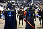 Darth Vader and Kylo Ren cosplay at Expocomic 2016 in Madrid, Spain. December 03, 2016. (ALTERPHOTOS/BorjaB.Hojas)