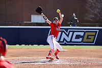 GREENSBORO, NC - FEBRUARY 22: Katie Kudlacik #24 of Fairfield University pitches the ball during a game between Fairfield and North Carolina at UNCG Softball Stadium on February 22, 2020 in Greensboro, North Carolina.