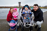 Christina Moloney, Ruby, Rian and Tommy Moriarty enjoying a stroll in the Tralee Bay Wetlands on Sunday.