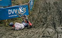 JUNQUERA Luis (ESP) checking out the belgian mud<br /> <br /> GP Sven Nys (BEL) 2019<br /> DVV Trofee<br /> ©kramon