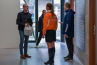 Ben Weyts , Flemish Minister of Sports , pictured before a recruting campaign from Voetbal Vlaanderen to attract more referees and match officials with Flemish minister of Sport Ben Weyts , Sunday 3 October 2021 in Mazenzele Opwijk , Belgium . PHOTO SPORTPIX | STIJN AUDOOREN