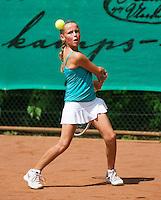 August 4, 2014, Netherlands, Dordrecht, TC Dash 35, Tennis, National Junior Championships, NJK,  Flore Hullegie   Lucia Hodanic<br /> Photo: Tennisimages/Henk Koster