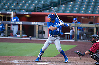 Kansas City Royals outfielder Michael Gigliotti (31) at bat during an Instructional League game against the Arizona Diamondbacks at Chase Field on October 14, 2017 in Scottsdale, Arizona. (Zachary Lucy/Four Seam Images)