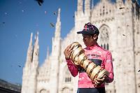 Egan Bernal (COL/Ineos Grenadiers) wins the 2021 Giro d'Italia <br /> <br /> 104th Giro d'Italia 2021 (2.UWT)<br /> Stage 21 (final ITT) from Senago to Milan (30.3km)<br /> <br /> ©kramon