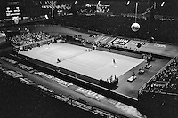 1978,Netherlands,ABN tennis Tournament, Rotterdam,Jimmy Connors (USA)and  Ramirez overall view