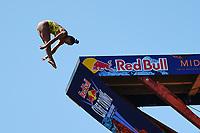 12th June 2021, Saint-Raphaël, Provence-Alpes-Côte d'Azur, France; Red Bull Cliff Diving competition;  Xantheia PENNISI (Aus)