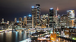 Sydney Skyline & Circual Quay at night, Sydney, NSW, Australia