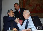 MASSIMO D'ALEMA CON FRANCESCO COSSIGA E WALTER VELTRONI