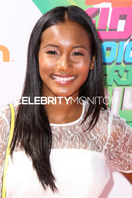 WESTWOOD, LOS ANGELES, CA, USA - JULY 17: Sydney Park at the Nickelodeon Kids' Choice Sports Awards 2014 held at UCLA's Pauley Pavilion on July 17, 2014 in Westwood, Los Angeles, California, United States. (Photo by Xavier Collin/Celebrity Monitor)