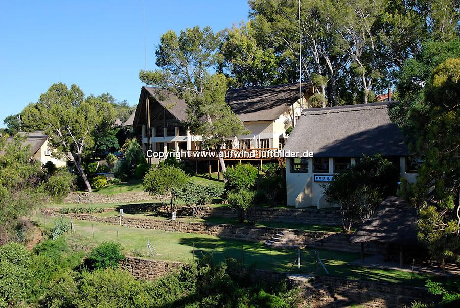 Riverside Loge: AFRIKA, SUEDAFRIKA, 18.12.2007: Riversise Loge am Orange River, Aliwal North, Hotel, Restaurant, South Africa, travel, Afrika, Suedafrika,