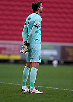 31st October 2020; Ashton Gate Stadium, Bristol, England; English Football League Championship Football, Bristol City versus Norwich; Tim Krul of Norwich City observes a minute silence for the passing of Nobby Stiles