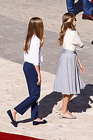 MADRID, SPAIN- October 12: **NO SPAIN**  Princess Leonor and Princess Sofia attend The National Day Military Parade at Royal Palace on October 12, 2020 in Madrid, Spain. <br /> CAP/MPI/RJO<br /> ©RJO/MPI/Capital Pictures