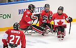 Sochi 2014 - Para Ice Hockey // Para-hockey sur glace.<br /> Team Canada takes on Sweden in Para Ice Hockey // Équipe Canada affronte la Suède en para-hockey sur glace. 08/03/2014.