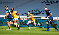 13th September 2020; AJ Bell Stadium, Salford, Lancashire, England; English Premiership Rugby, Sale Sharks versus Bath;  Ben Spencer of Bath Rugby releases the ball