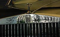 A Rolls-Royce car is displayed in the Shanghai Rolls-Royce car showroom, Shanghai, China. .