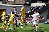 Adam Hillis of the Wellington Phoenix clears the ball during the ISPS Handa Men's Premiership - Wellington Phoenix v Team Wellington at Fraser Park, Wellington on Saturday 14 November 2020.<br /> Copyright photo: Masanori Udagawa /  www.photosport.nz