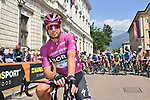 Maglia Ciclamino Peter Sagan (SVK) Bora Hansgrohe lines up for the start of Stage 18 of the 2021 Giro d'Italia, running 231km from Rovereto to Stradella, Italy. 27th May 2021.  <br /> Picture: LaPresse/Gian Mattia D'Alberto   Cyclefile<br /> <br /> All photos usage must carry mandatory copyright credit (© Cyclefile   LaPresse/Gian Mattia D'Alberto)