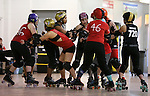 Carson Victory Rollers scrimmage at the Community Center, in Carson City, Nev. on Sunday, Feb. 12, 2017.  <br />