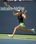 August 31,2019:   Caroline Wozniacki (DEN) loses to Bianca Andreescu (CAN) 6-4, at the US Open being played at Billie Jean King National Tennis Center in Flushing, Queens, NY.  ©Jo Becktold/CSM